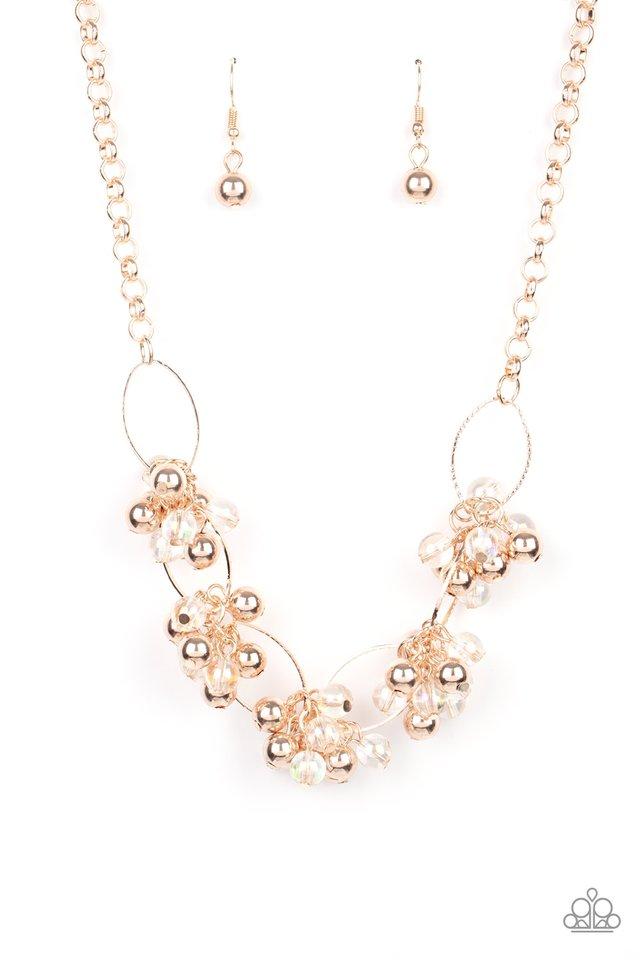 Effervescent Ensemble - Rose Gold - Paparazzi Necklace Image