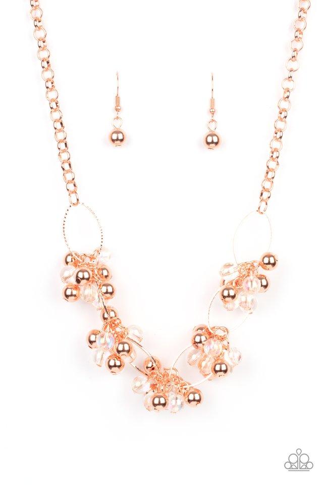 Effervescent Ensemble - Copper - Paparazzi Necklace Image