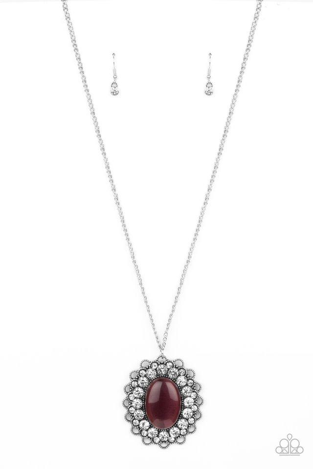 Oh My Medallion - Purple - Paparazzi Necklace Image