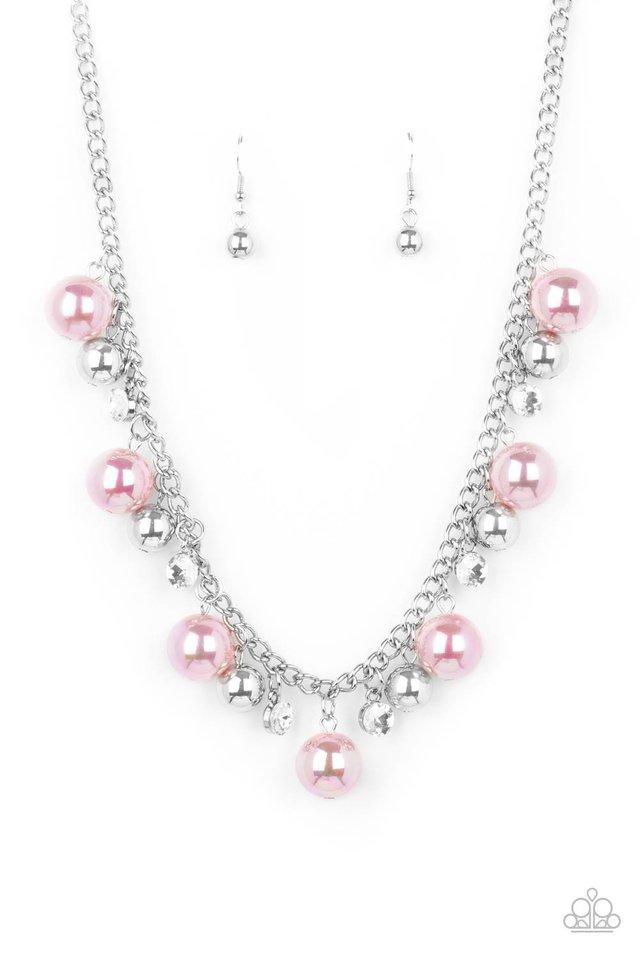 Galactic Gala - Pink - Paparazzi Necklace Image