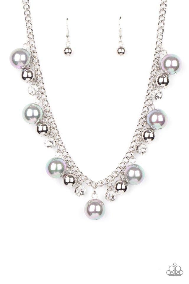 Galactic Gala - Silver - Paparazzi Necklace Image