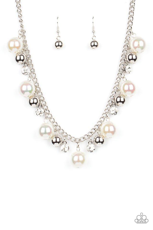 Galactic Gala - White - Paparazzi Necklace Image