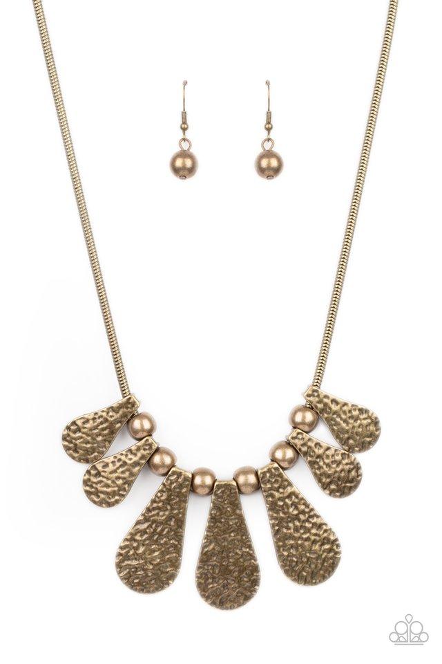 Gallery Goddess - Brass - Paparazzi Necklace Image