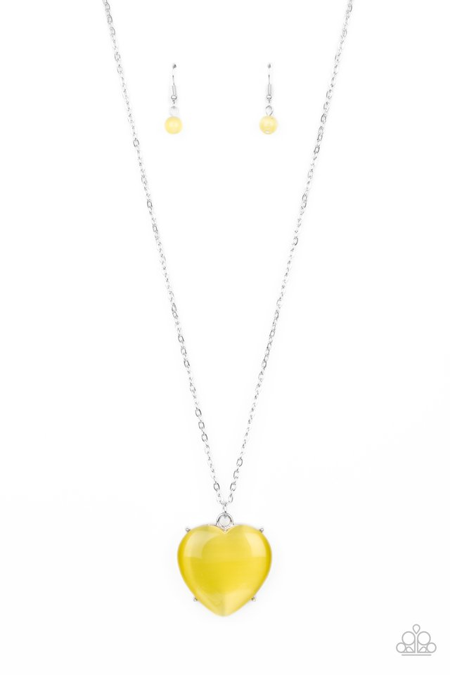 Warmhearted Glow - Yellow - Paparazzi Necklace Image