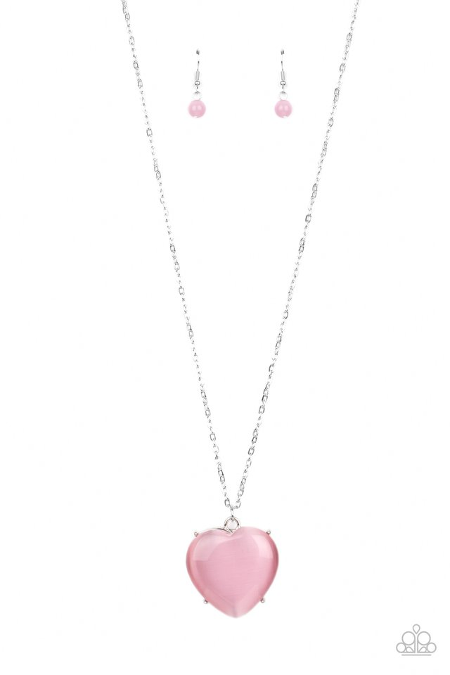 Warmhearted Glow - Pink - Paparazzi Necklace Image