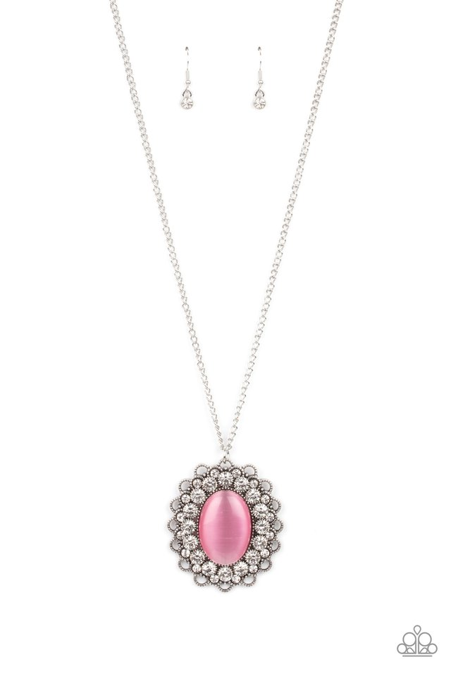 Oh My Medallion - Pink - Paparazzi Necklace Image