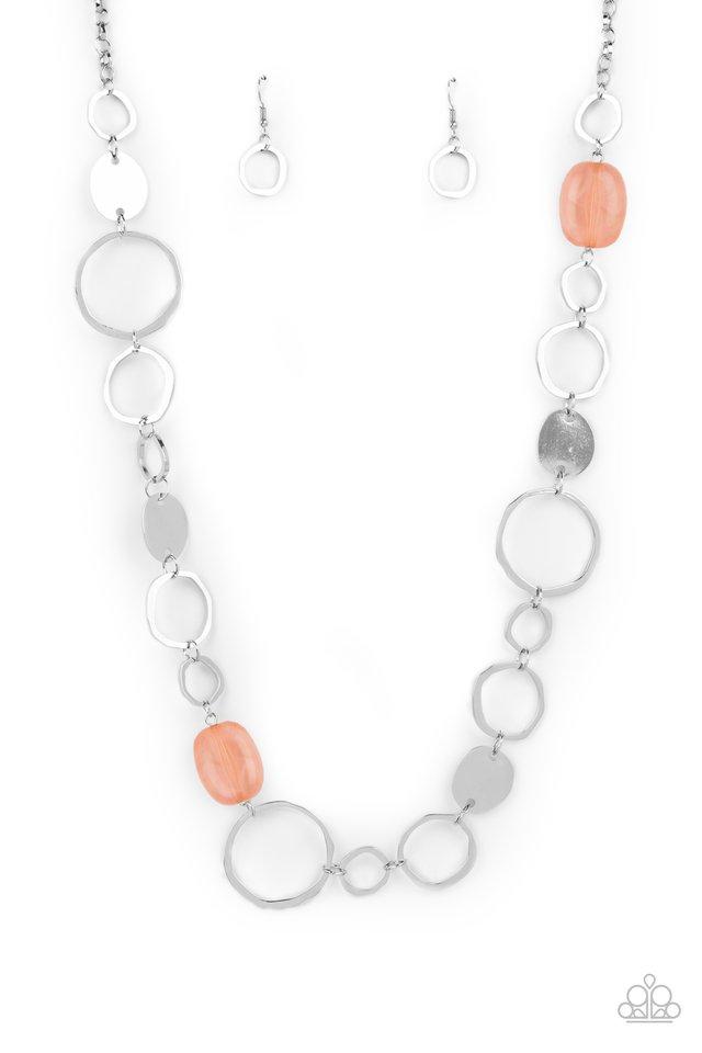 Colorful Combo - Orange - Paparazzi Necklace Image