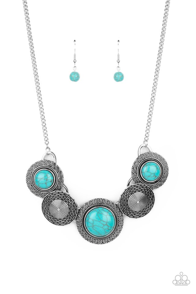 Canyon Cottage - Blue - Paparazzi Necklace Image