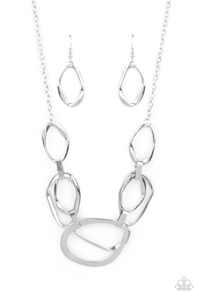 Prehistoric Heirloom - Silver - Paparazzi Necklace Image