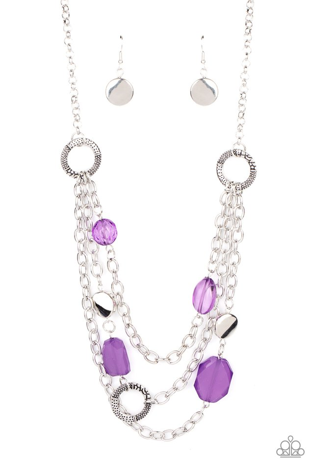 Oceanside Spa - Purple - Paparazzi Necklace Image
