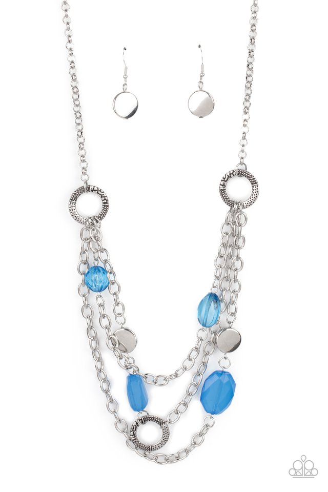 Oceanside Spa - Blue - Paparazzi Necklace Image