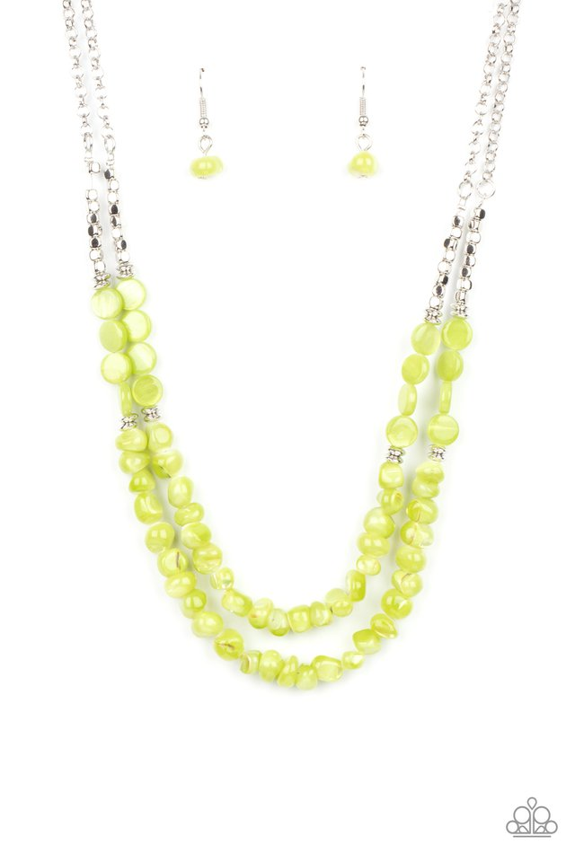 Staycation Status - Green - Paparazzi Necklace Image