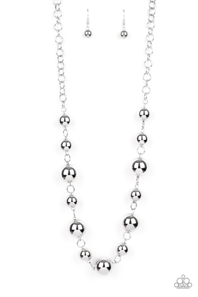 Commanding Composure - Silver - Paparazzi Necklace Image