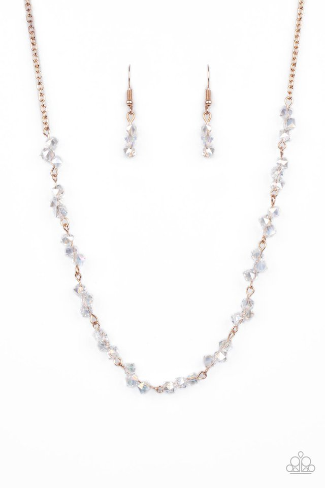 Incredibly Iridescent - Rose Gold - Paparazzi Necklace Image