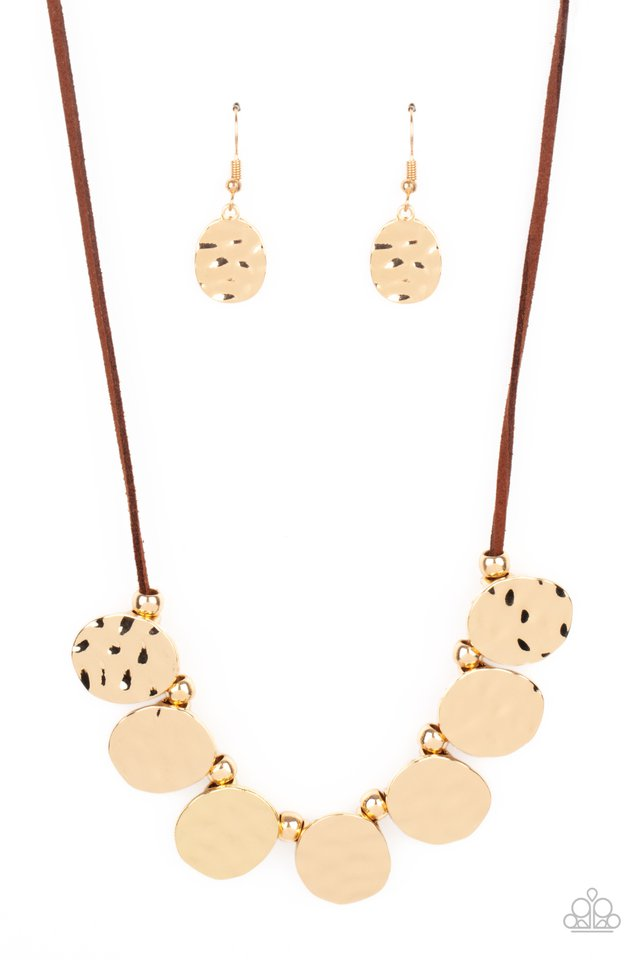 Turn Me Loose - Brown - Paparazzi Necklace Image