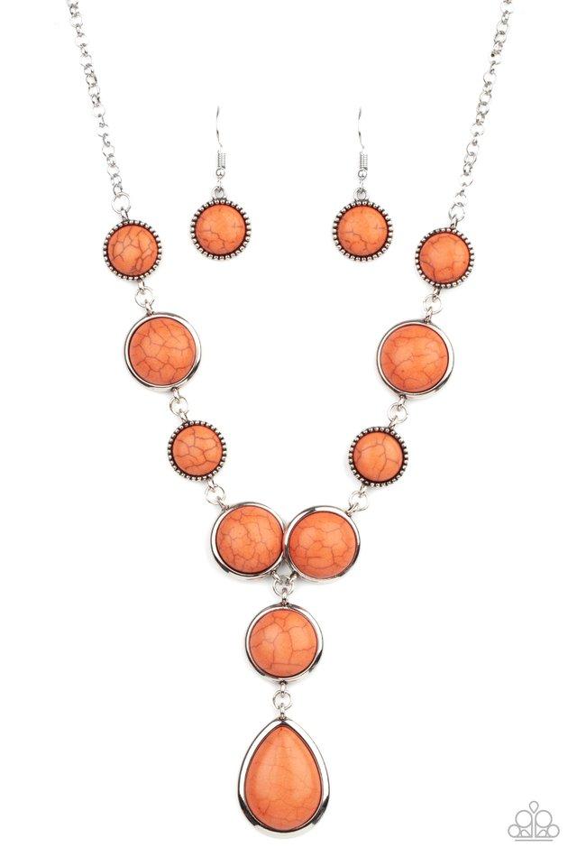 Terrestrial Trailblazer - Orange - Paparazzi Necklace Image
