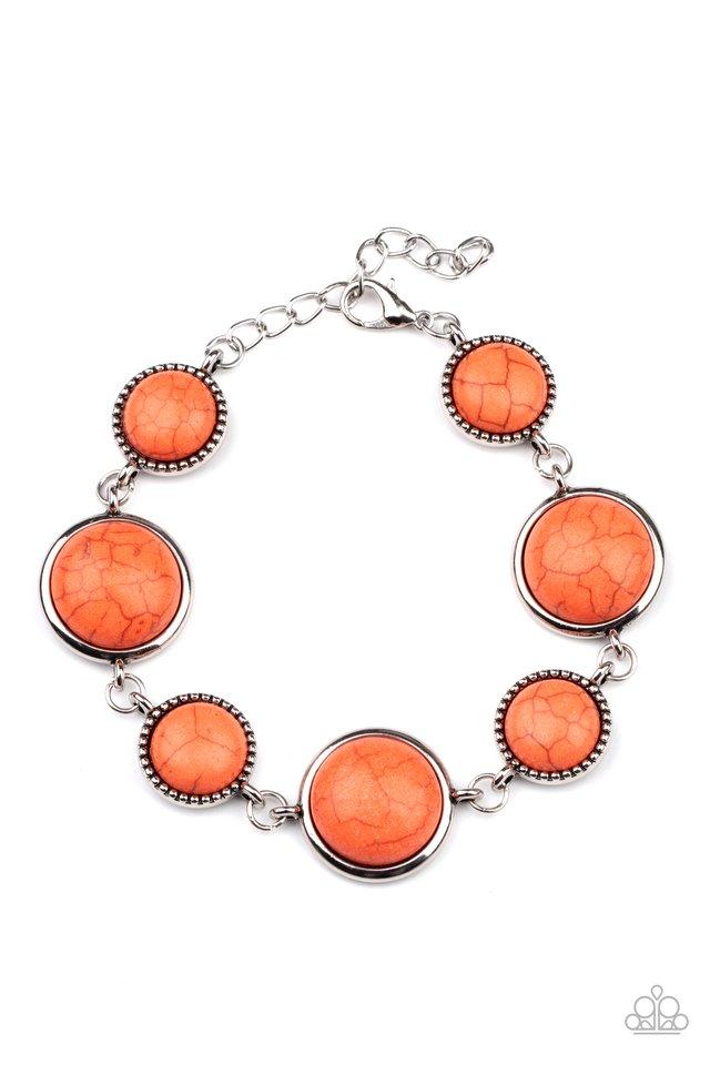 Turn Up The Terra - Orange - Paparazzi Bracelet Image