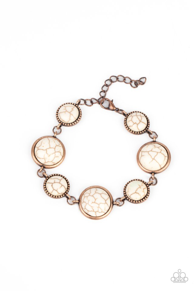 Turn Up The Terra - Copper - Paparazzi Bracelet Image