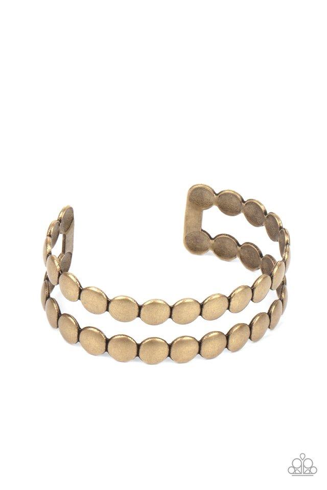 On The Spot Shimmer - Brass - Paparazzi Bracelet Image