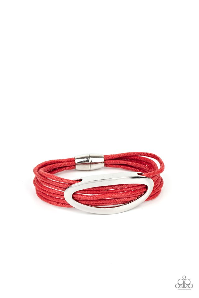 Corded Couture - Red - Paparazzi Bracelet Image