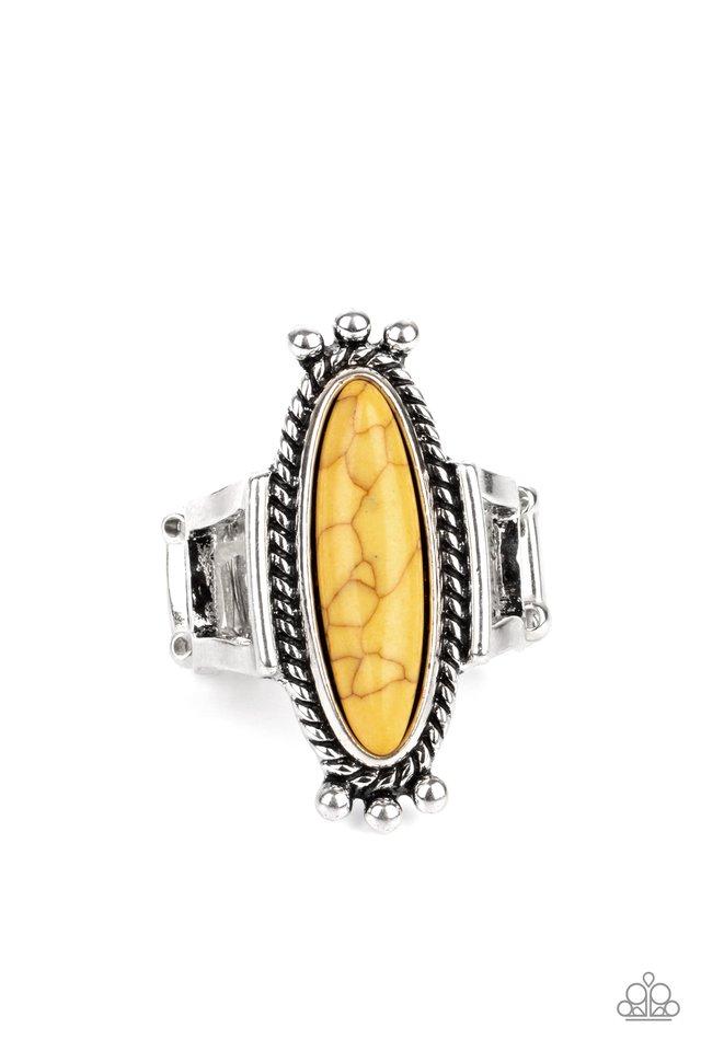 Sahara Escape - Yellow - Paparazzi Ring Image