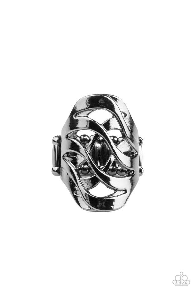 Open Fire - Black - Paparazzi Ring Image