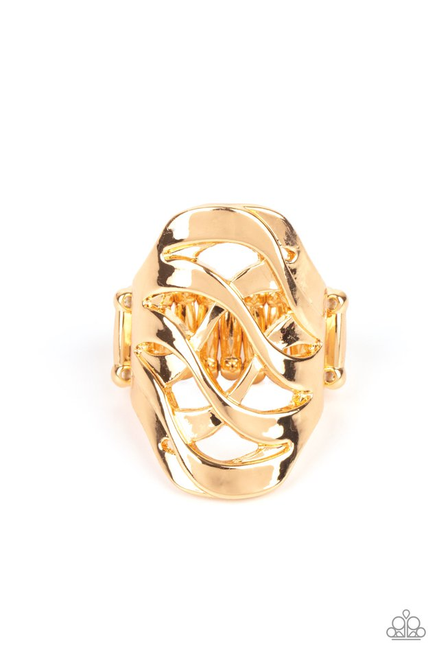 Open Fire - Gold - Paparazzi Ring Image