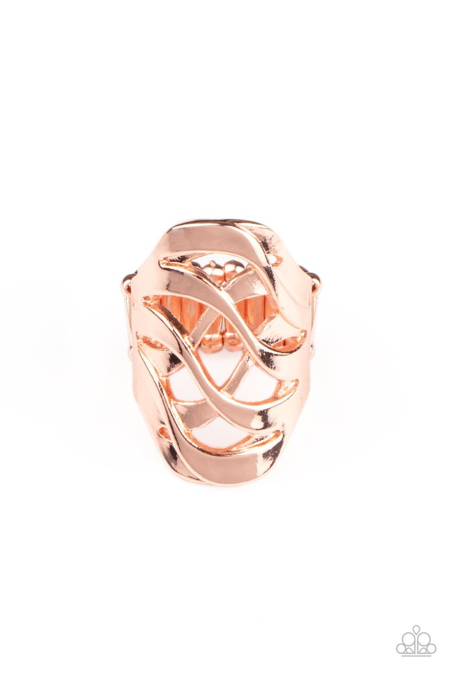 Open Fire - Copper - Paparazzi Ring Image