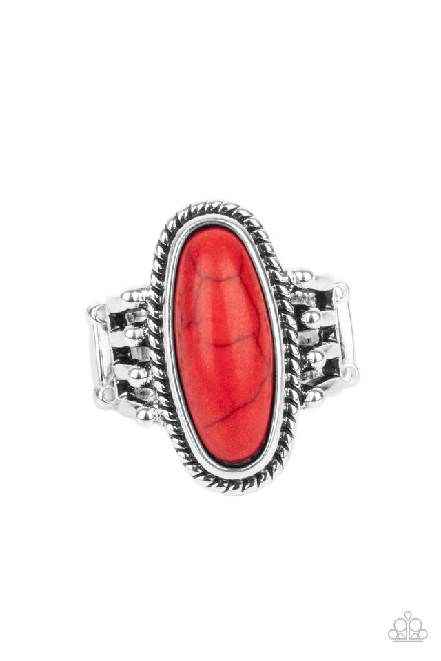 Home On The RANCH - Red - Paparazzi Ring Image