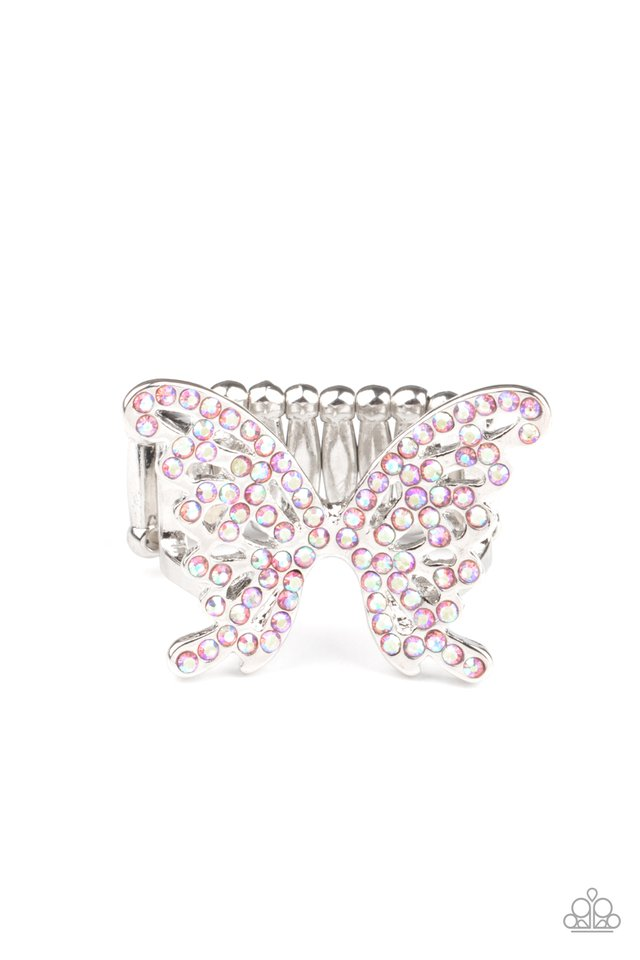 Butterfly Orchard - Pink - Paparazzi Ring Image