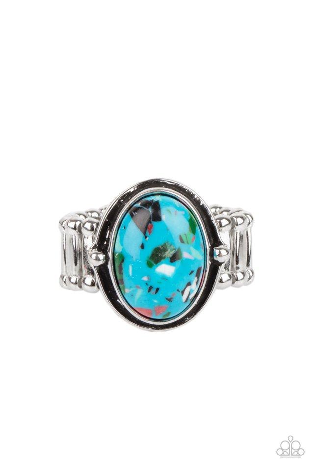 Terrifically Terrazzo - Blue - Paparazzi Ring Image