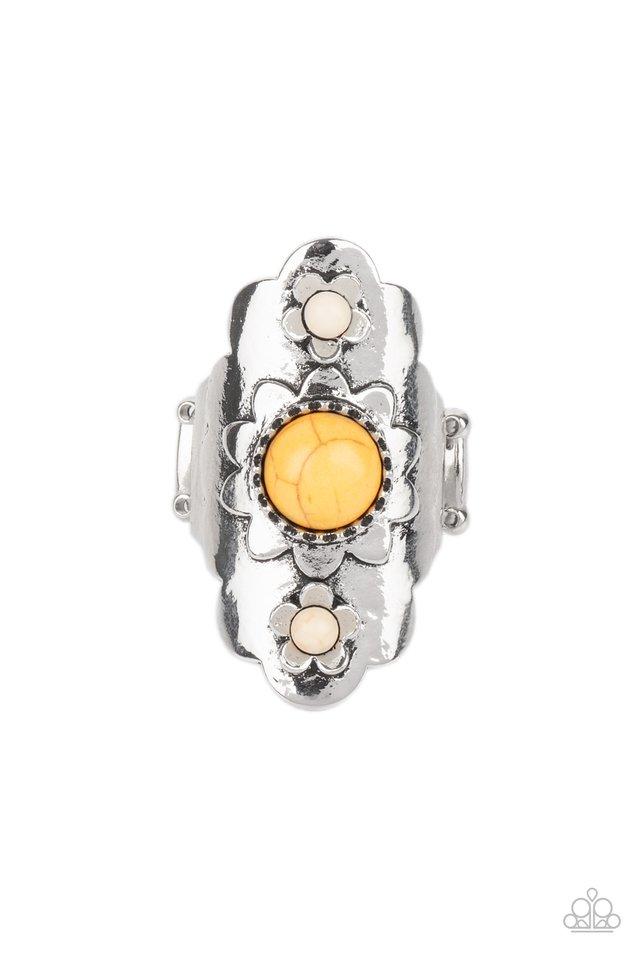 Badlands Garden - Yellow - Paparazzi Ring Image