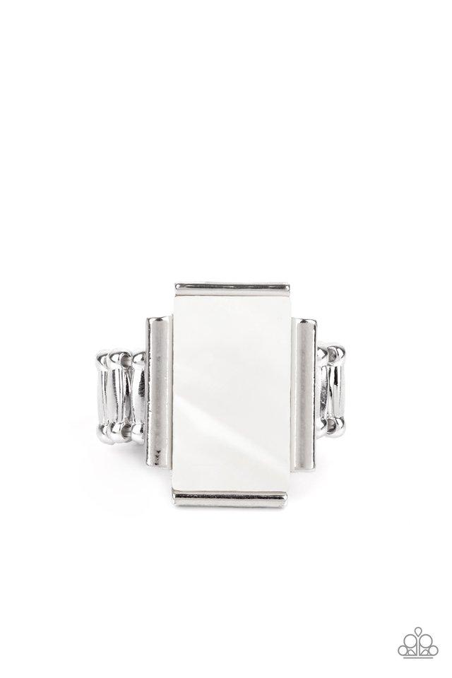 Mystical Marinas - White - Paparazzi Ring Image