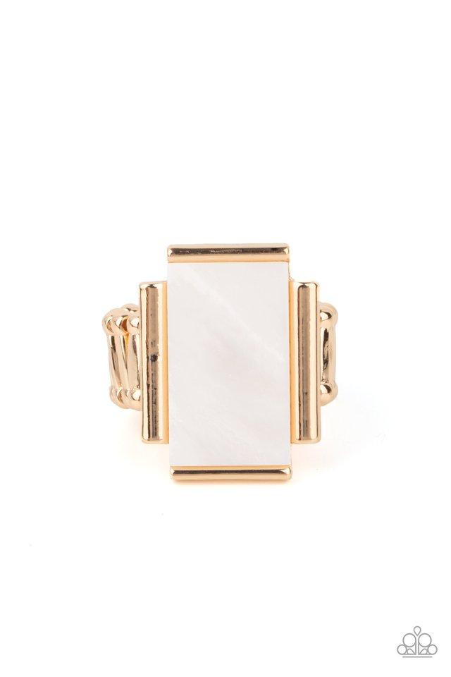 Mystical Marinas - Gold - Paparazzi Ring Image