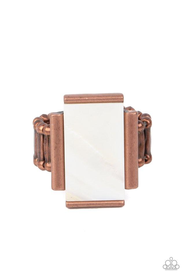 Mystical Marinas - Copper - Paparazzi Ring Image