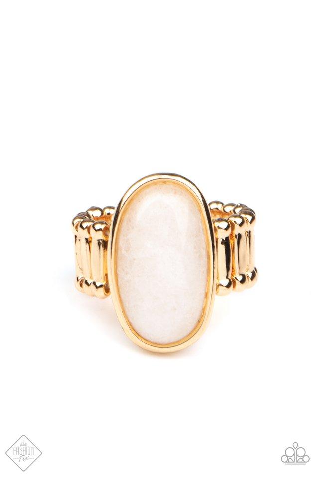 Mystical Mantra - Gold - Paparazzi Ring Image