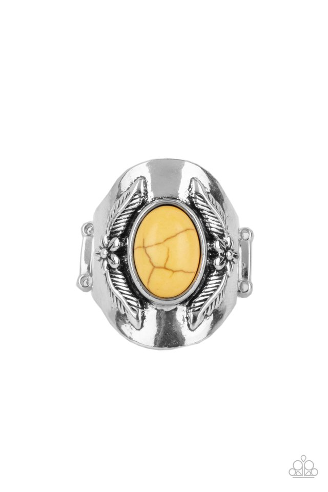 Santa Fe Sanctuary - Yellow - Paparazzi Ring Image