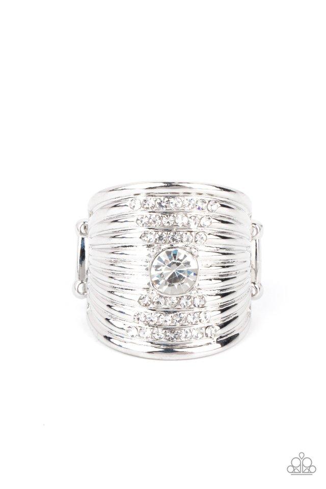 Crystal Corsets - White - Paparazzi Ring Image
