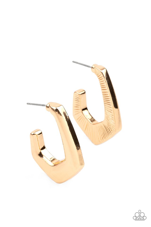 On The Hook - Gold - Paparazzi Earring Image