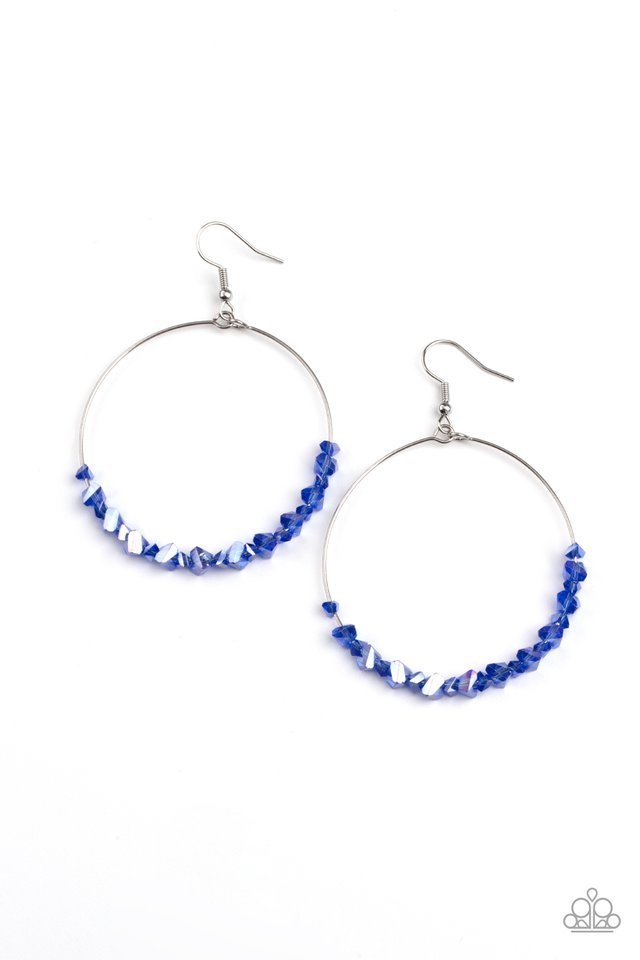 Glimmering Go-Getter - Blue - Paparazzi Earring Image
