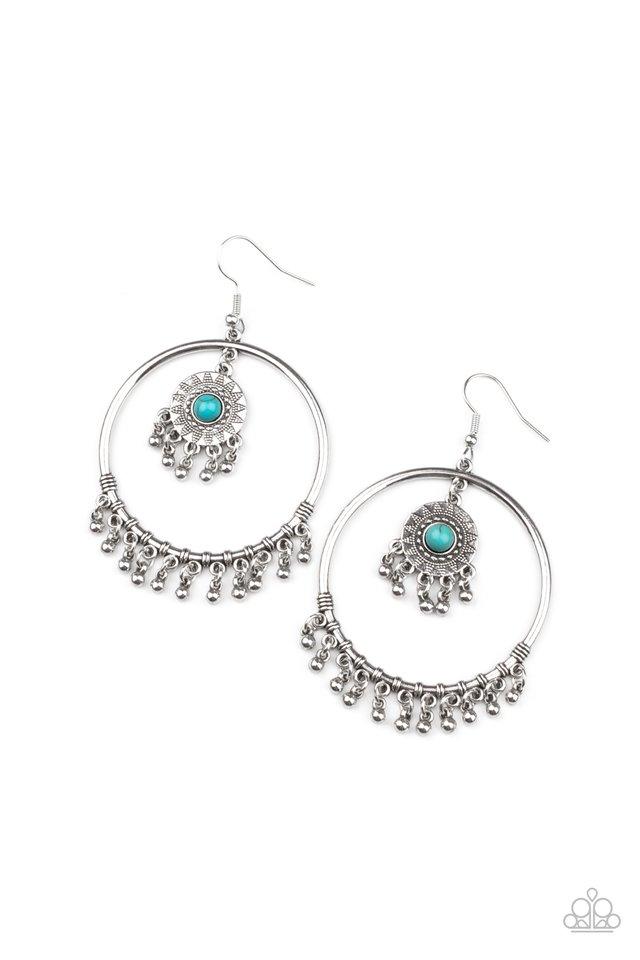 Sunny Equinox - Blue - Paparazzi Earring Image
