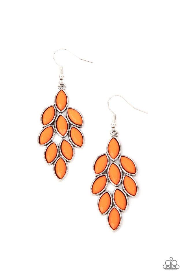 Flamboyant Foliage - Orange - Paparazzi Earring Image