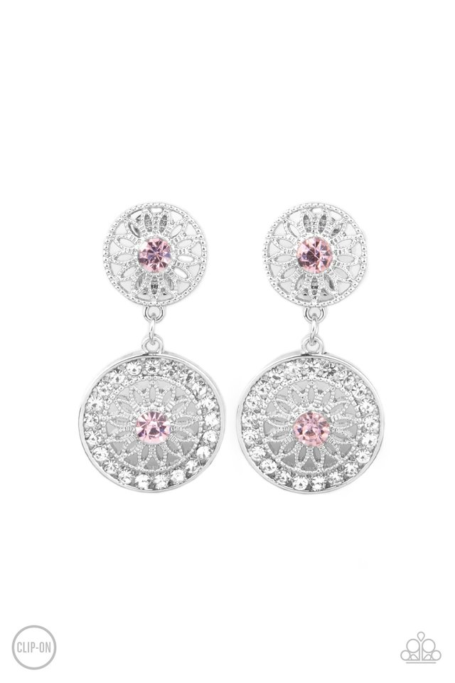 Life of The Garden Party - Pink - Paparazzi Earring Image