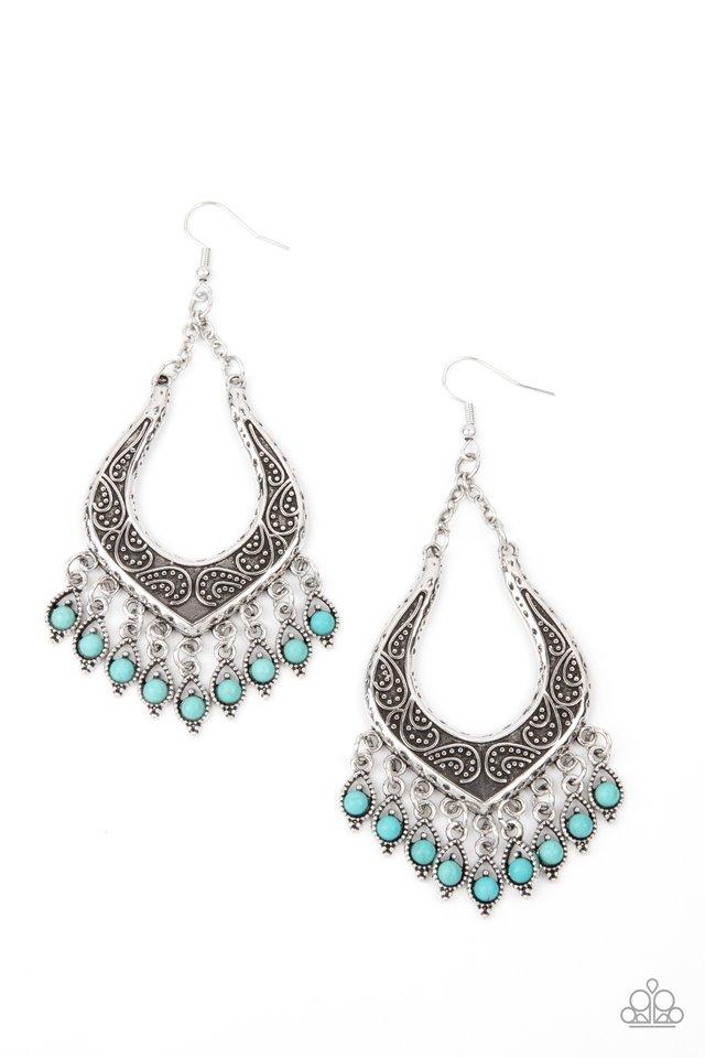 Sahara Fiesta - Blue - Paparazzi Earring Image