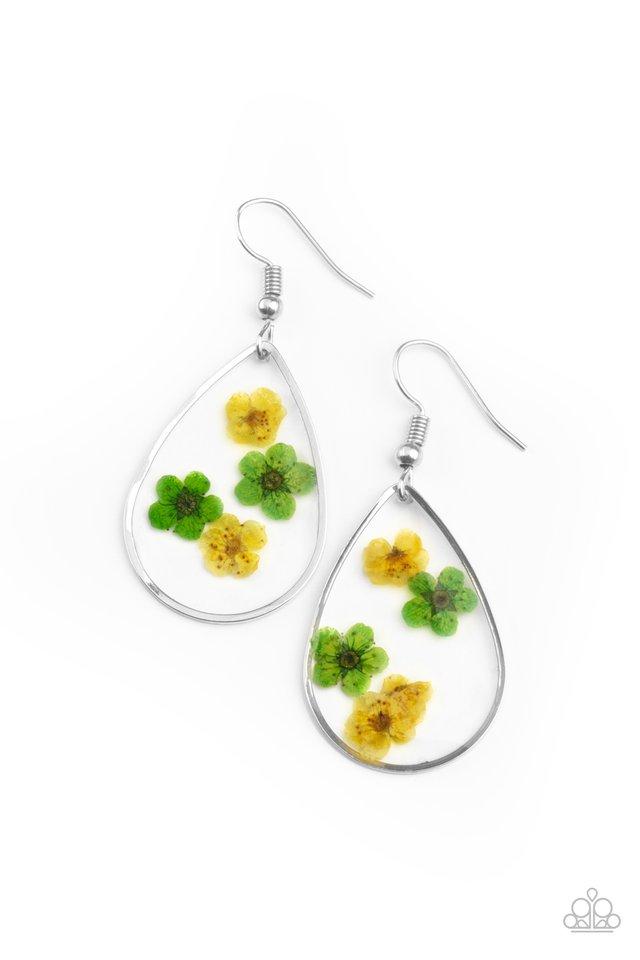 Perennial Prairie - Yellow - Paparazzi Earring Image