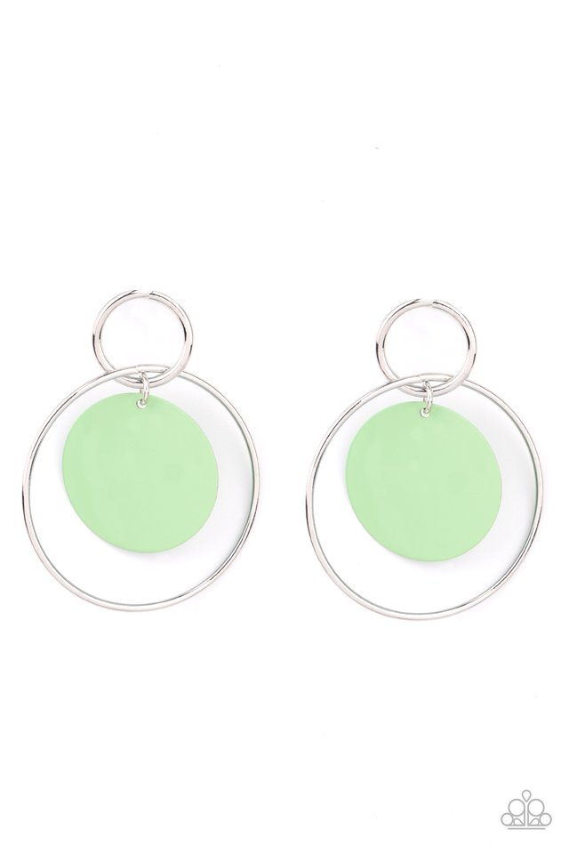 POP, Look, and Listen - Green - Paparazzi Earring Image
