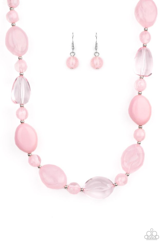 Staycation Stunner - Pink - Paparazzi Necklace Image