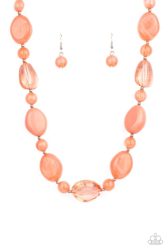 Staycation Stunner - Orange - Paparazzi Necklace Image