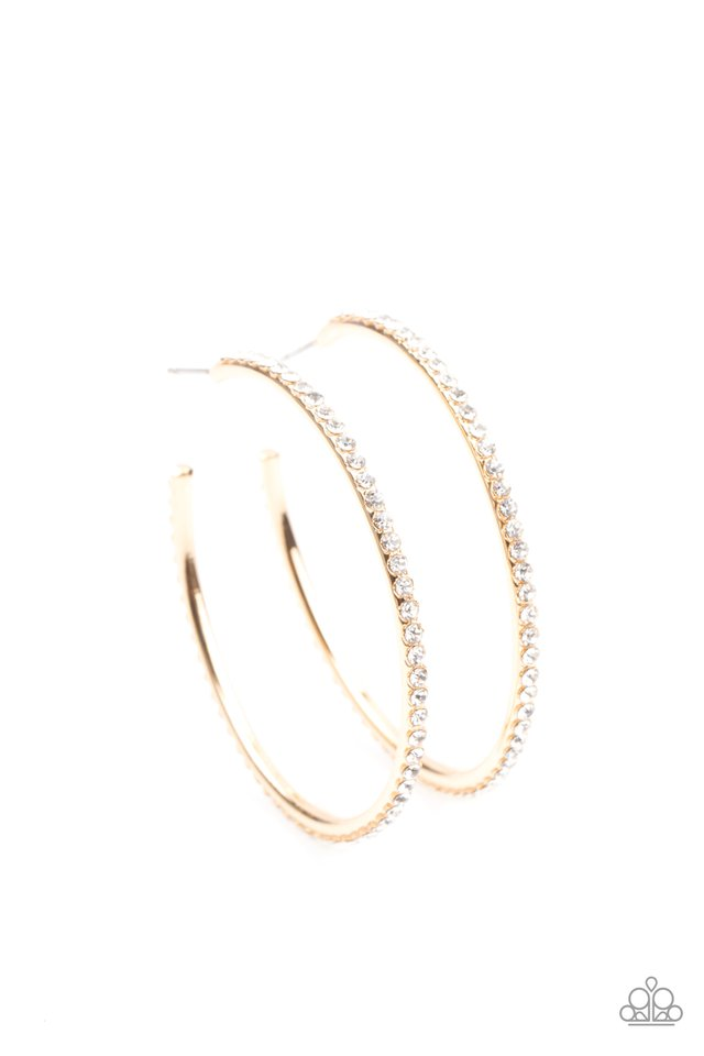 By Popular Vote - Gold - Paparazzi Earring Image
