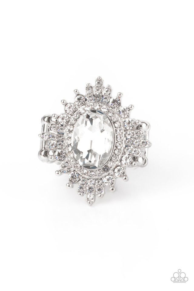 Five-Star Stunner - White - Paparazzi Ring Image